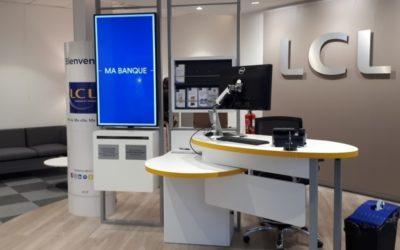 Vitrophanie et signalétique des agences LCL