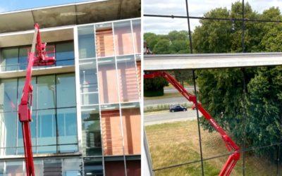 Pose de films solaires miroir au CHU d'Arras