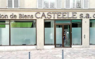 Film dépoli plein à Paris contre le vis à vis extérieur